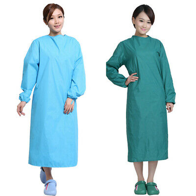 Surgical Gown Waterproof Operating Coat Scrub Top Surgeon Suit Uniform M-2XL