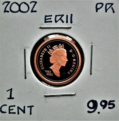 2002 Canada One Cent Proof Strike