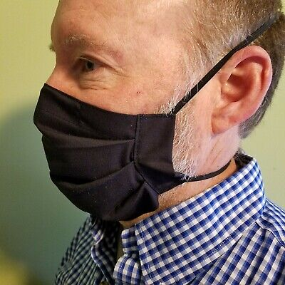 Ear Saver Face Mask with FREE SHIPPING! Adult Size With Filter Pocket, Dbl Layer