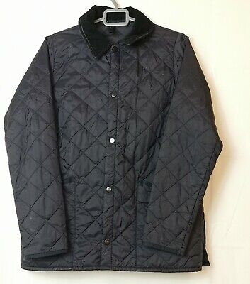 Barbour Navy Blue Children Liddesdale Quilted Jacket Size XL 12/13 ~Boys
