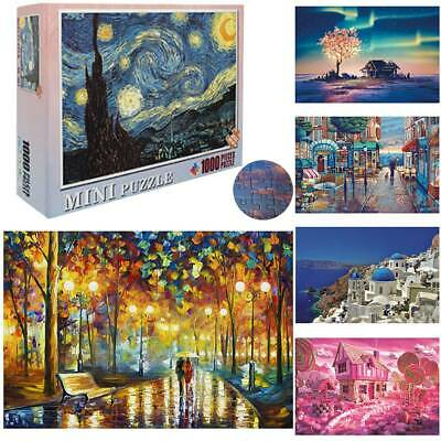 Kids Adult Puzzle 1000 Pieces Mini Jigsaw Decompression Game Toys Gifts Funny