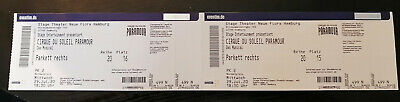 2 tickets for Paramour Musical by Cirque du Soleil in Hamburg