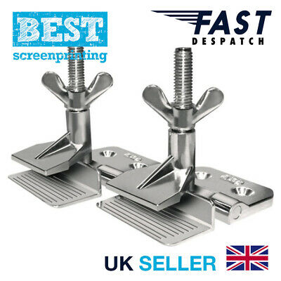 BEST Screen Printing Butterfly Hinge Clamps (Pair) Free delivery
