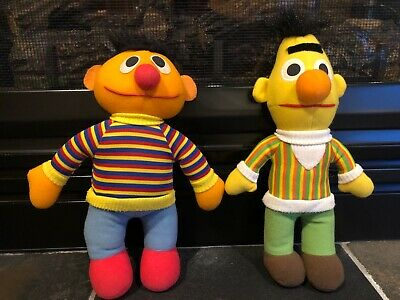 Vintage 1995 Playskool Plush Sesame Street Bert and Ernie