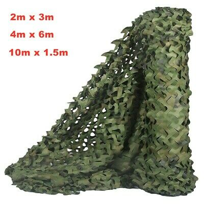 3 Size Camouflage Net Hide Hunting Shooting Military Army Camping Decor Cover UK