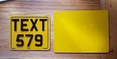 7x6 text motorcycle kids plate novelty bike car plate not number plate