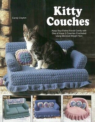 PDF Vintage Сrocheted sofa for cat Kitty Couches crochet  pattern
