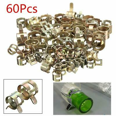 60Pc Fuel Line Hose Spring Clip Water Pipe Air Tube Clamp 6/8/10/12/14/15mm Kits