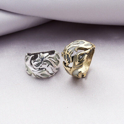 Size 17-20mm Rings Luminous Ring Giftss Retro Party Men's Ring Dragon Rings YW