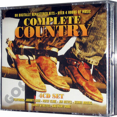 Complete Country Music Collection 4 CD Jewel Case Box Set 80 Songs New
