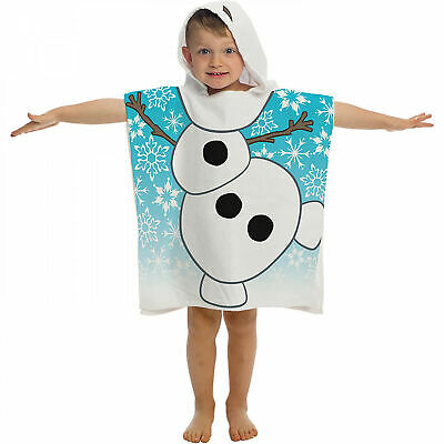 Frozen Olaf Youth Hooded Poncho Towel Multi-Color