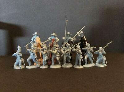 """Paragon PS016PB """"Alamo Mexican Cavalry w/Infantry Set 3"""" LIGHT BLUE 54mm Soldier"""