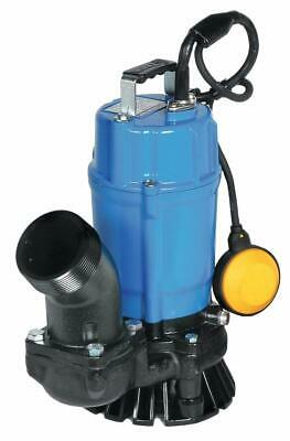 Tsurumi HSZ3.75S; Float Operated Submersible Trash Pump w/Agitator, 1hp, 115V