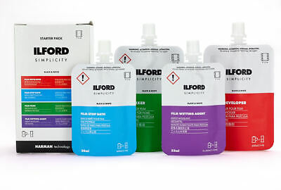 Ilford Simplicity Film Starter Pack - Chemical Development Films Black and White