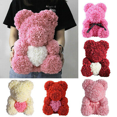 25/40cm Stylish Rose Teddy Bear Foam Rose Bear Birthday Wedding Gift