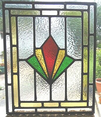 HAND MADE ART DECO STAINED GLASS PANEL REF SG376 - see my other items