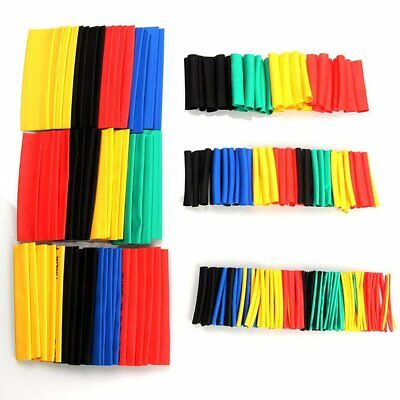 328Pcs 8 Sizes Assorted 2:1 Heat Shrink Tubing Tube Wrap Sleeve Wire Cable Kit