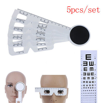 5Pcs/set Optical Pupil Distance Ruler Ophthalmic PD Meter Eye instrument Rul JE