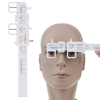 1X Measure Optical Vernier PD Ruler Pupil Distance Meter Eye Ophthalmic Tool JE