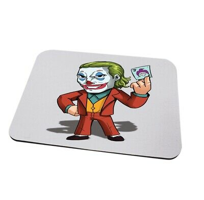 The joker mousemat can be personalised