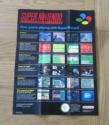 Now You're Playing With Super Power!! - Super Nintendo / Snes Poster / Promo