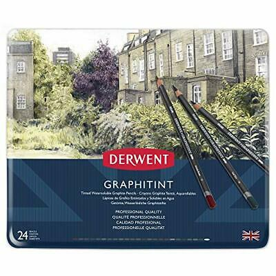 Derwent 700803 Graphitint Tinted Graphite Drawing Pencils, Set of 24,