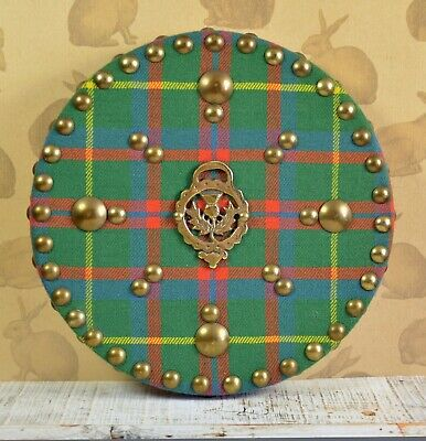Highland Targes Wall Hanging Thistle Crest Plaid ? Tartan Scottish Scotland