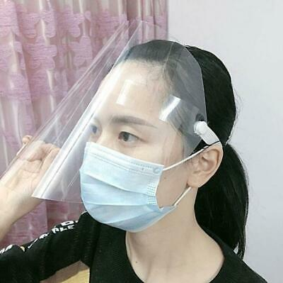 2pcs Dust-proof Protect Full Face Covering Visor Transparent Removable