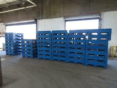 Lot of 40 Monoflo Blue and Black Collapsible Bulk Containers 45x48x24 T154441