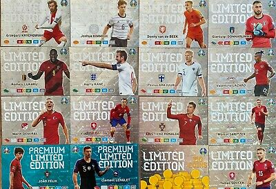 Panini Adrenalyn Xl Euro 2020 Limited Edition Cards To Choose Rare