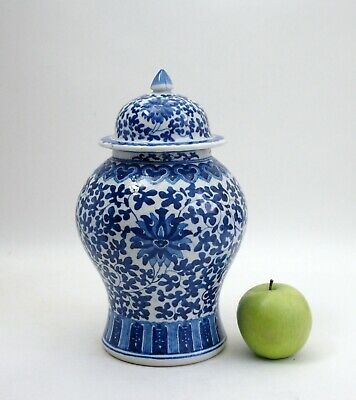 Antique 19th century Chinese porcelain jar and cover
