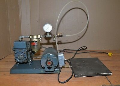Welch Duo-seal vacuum rotary vein pump & plate industrial tool machinist jewelry