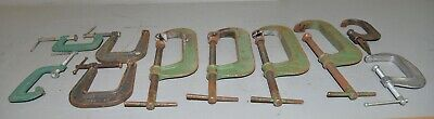 10 woodworking metal clamps Taylor Forbes Pearlitic deep throat craftsman & more