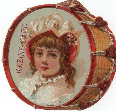 Kazine Soap; Girl pictured on a Drum; Trade Card