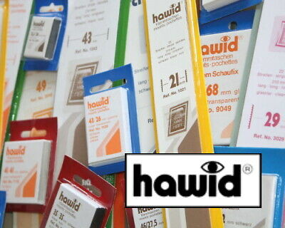 Hawid Stamp Mounts Cut to Various Sizes - Black or Clear - Pack of 50 - Free P&P