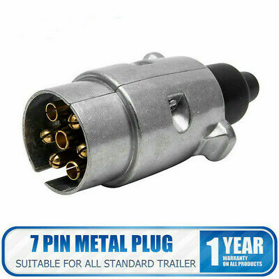 7 Pin 12N Towing Electrics Metal Alloy Trailer Car Plug Socket Towbar Alumium