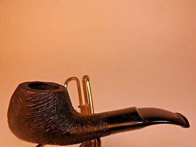 """New Vintage Brebbia """"GO-GO"""" """"Real Briar"""" Pipe Italy 80's Lt Wt Pocket Size Rubbe"""