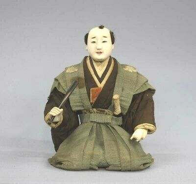 Japanese Antique Samurai Kamishimo Doll Edo Era Around 1800 Rare