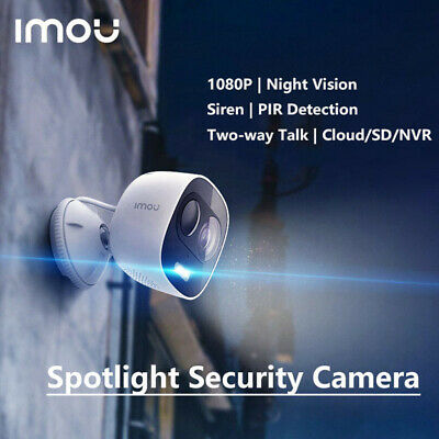 Imou Outdoor Security Camera 1080P Wi-Fi IP Camera PIR with Siren +LED Spotlight