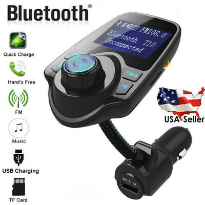 Wireless in Car Bluetooth FM Transmitter MP3 Radio Kit USB Charger Player US RX