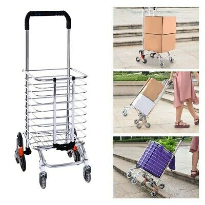 Stair Climbing Hand Truck Trolley Dolly Wheels Climber Folding Shopping Cart US