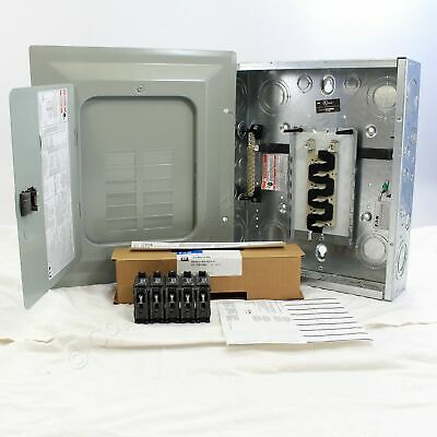Eaton BR1224L125V1 Cutler-Hammer BR 12-Space Main Lug Panel w/5 Breakers 125A