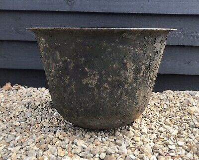 One Cast Iron Copper Industrial Salvage Planter