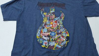 Hard Rock Cafe Guitar Orlando Graphic Music T Shirt L Large Young Men's Blue Tee