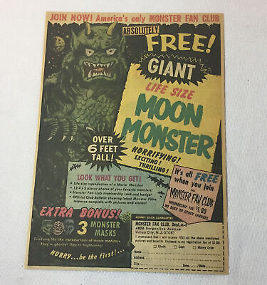 1971 toy ad page ~ MOON MONSTER ~ Monster Fan Club