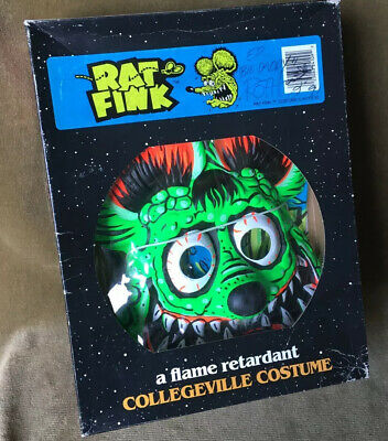 ED Big Daddy ROTH RAT FINK HALLOWEEN COSTUME never worn in box Signed