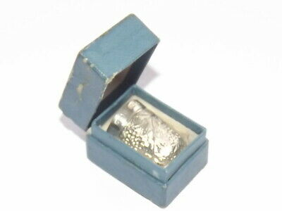 Antique Edwardian Solid Silver Sterling Thimble, Boxed, Size 6 Birmingham 1904