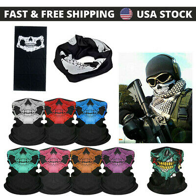 1PC Ghost Biker SKULL FACE MASK Motorcycle Ski Balaclava Hood CS FACE PROTECTION