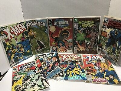 Lot of 9 Different Marvel & DC Comic Books 1992-1996  Lot Nice Variety