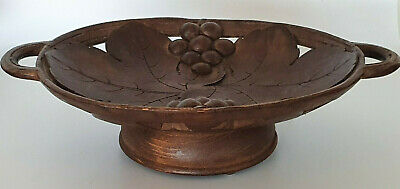 Vintage Black Forest Carved Musical Fruit Bowl Bon Bon Dish
